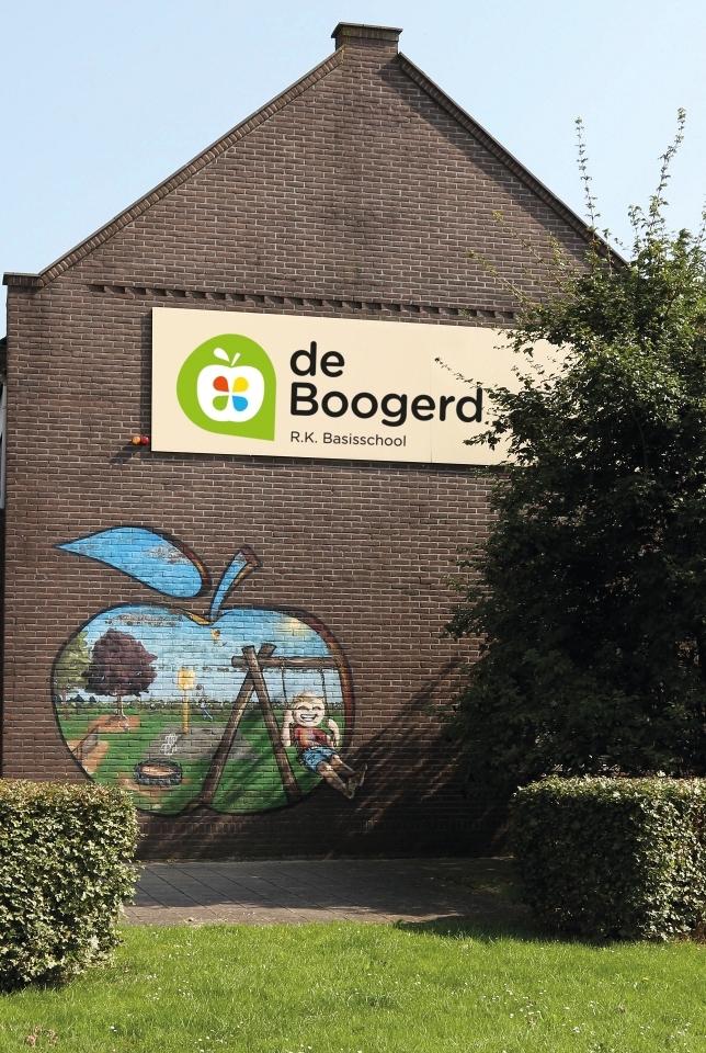 Voorgevel van schoolgebouw van de Boogerd