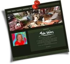 Screenshot van de nieuwe website van Fieke Weilers