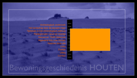 Screenshot website Gemeente Houten Architectuur en geschiedenis