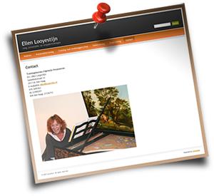 Screenshot van nieuwe website van Ellen Looyestijn