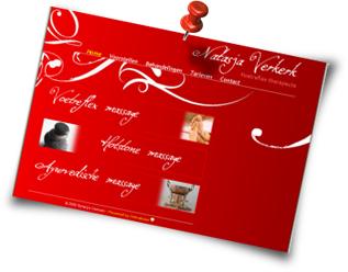 Screenshot van de nieuwe website van Natasja Verkerk