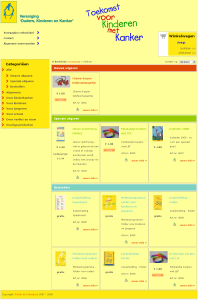 Screenshot van webwinkel VOKK