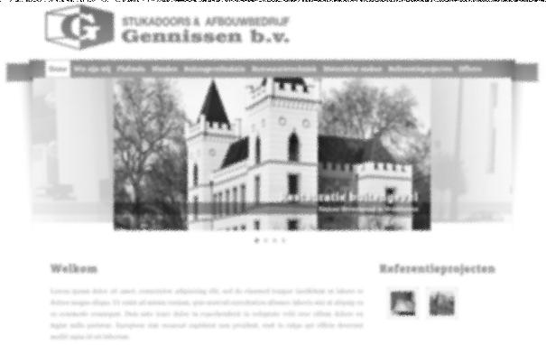 Screenshot van nieuwe Gennissen BV website